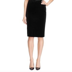 J. Crew Black velvety pencil skirt